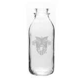 West Point 33.5 oz. Deep Etched Milk Bottle