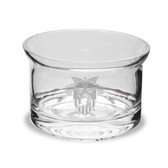 West Point 5 inch Deep Etched Crystal Candy Bowl