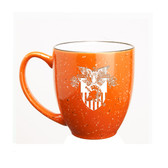 West Point 15 oz. Deep Etched Orange Bistro Mug