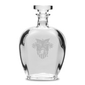 West Point 23.75 oz.  Deep Etched Bottecelli Decanter
