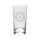 Alabama Crimson Tide 10 oz. Deep Etched Highball Glass