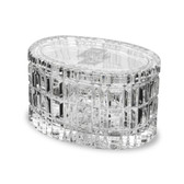 "Boston College 5"" Deep Etched Oval Crystal Table Box"