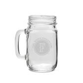 Cal State Fullerton 16 oz. Deep Etched Old Fashion Drinking Jar with Handle