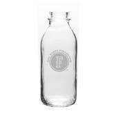Cal State Fullerton 33.5 oz. Deep Etched Milk Bottle