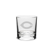 Chicago Maroons 10.5 oz. Deep Etched Football Double Old Fashion Glass