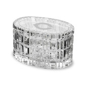 """Chicago Maroons 5"""" Deep Etched Oval Crystal Table Box"""