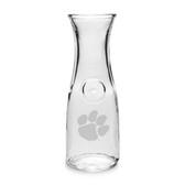 Clemson Tigers 1/2 Litre Deep Etched Wine Carafe