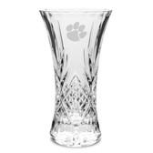 """Clemson Tigers 11.75"""" Deep Etched Cristal D'Arques Vase"""