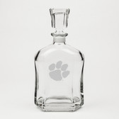 Clemson Tigers Deep Etched Whiskey Decanter