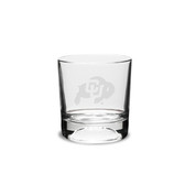 Colorado Buffaloes 10.5 oz. Deep Etched Football Double Old Fashion Glass