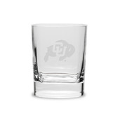 Colorado Buffaloes 11.75 oz. Deep Etched Double Old Fashion Glass