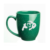 Colorado Buffaloes 15 oz. Deep Etched Green Bistro Mug