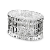 "Colorado Buffaloes 5"" Deep Etched Oval Crystal Table Box"