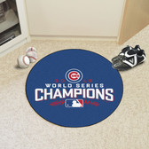 "Chicago Cubs 2016 World Series Champions Baseball Mat 26"" diameter"