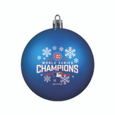 Chicago Cubs 2016 World Series Champions Shatterproof Ornament