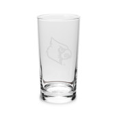 Louisville Cardinals 10 oz. Deep Etched Highball Glass