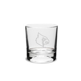 Louisville Cardinals 10.5 oz. Deep Etched Football Double Old Fashion Glass