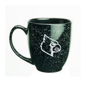 Louisville Cardinals 15 oz. Deep Etched Black Bistro Mug