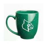 Louisville Cardinals 15 oz. Deep Etched Green Bistro Mug