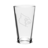 Louisville Cardinals 16 oz. Deep Etched Pub Glass