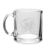 Maryland Terrapins 13 oz. Deep Etched Clear Glass Coffee Mug