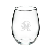 Maryland Terrapins 15.0 oz. Deep Etched Stemless Deep Etched Red Wine Glass