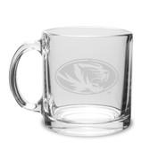 Missouri Tigers 13 oz. Deep Etched Clear Glass Coffee Mug