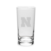 Nebraska Cornhuskers 10 oz. Deep Etched Highball Glass