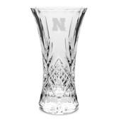 """Nebraska Cornhuskers 11.75"""" Deep Etched Cristal D'Arques Vase"""