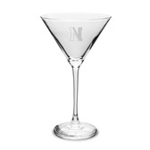 Northeastern Huskies 10 oz. Deep Etched Martini Glass
