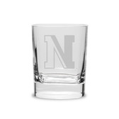 Northeastern Huskies 11.75 oz. Deep Etched Double Old Fashion Glass