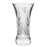 "Northeastern Huskies 11.75"" Deep Etched Cristal D'Arques Vase"