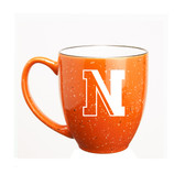 Northeastern Huskies 15 oz. Deep Etched Orange Bistro Mug