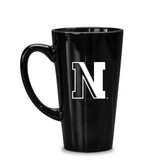 Northeastern Huskies 16 oz. Deep Etched Black Java Mug