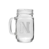 Northeastern Huskies 16 oz. Deep Etched Old Fashion Drinking Jar with Handle