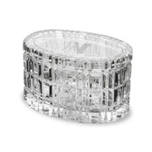 "Northeastern Huskies 5"" Deep Etched Oval Crystal Table Box"
