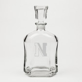 Northeastern Huskies Deep Etched Whiskey Decanter