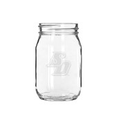 San Diego Tritons 16 oz. Deep Etched Old Fashion Drinking Jar