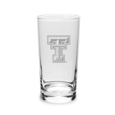 Texas Tech Red Raiders 10 oz Deep Etched Highball Glass