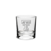 Texas Tech Red Raiders 10.5 oz Deep Etched Football Double Old Fashion Glass