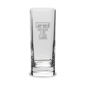 Texas Tech Red Raiders 13.5 oz Deep Etched Square Round Double Old Fashion Glass