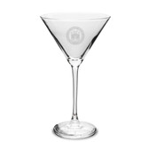 Coast Guard Academy 10 oz Deep Etched Martini Glass