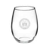 Coast Guard Academy 15.0 oz Deep Etched Stemless Deep Etched Red Wine Glass
