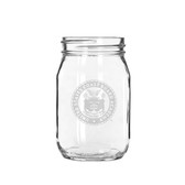 Coast Guard Academy 16 oz Deep Etched Old Fashion Drinking Jar