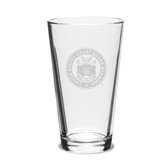 Coast Guard Academy 16 oz Deep Etched Pub Glass
