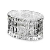 "Coast Guard Academy 5"" Deep Etched Oval Crystal Table Box"
