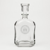 Coast Guard Academy Deep Etched Whiskey Decanter