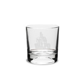 Valparaiso Crusaders 10.5 oz Deep Etched Football Double Old Fashion Glass
