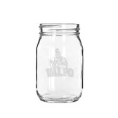Valparaiso Crusaders 16 oz Deep Etched Old Fashion Drinking Jar