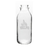 Valparaiso Crusaders 33.5 oz Deep Etched Milk Bottle